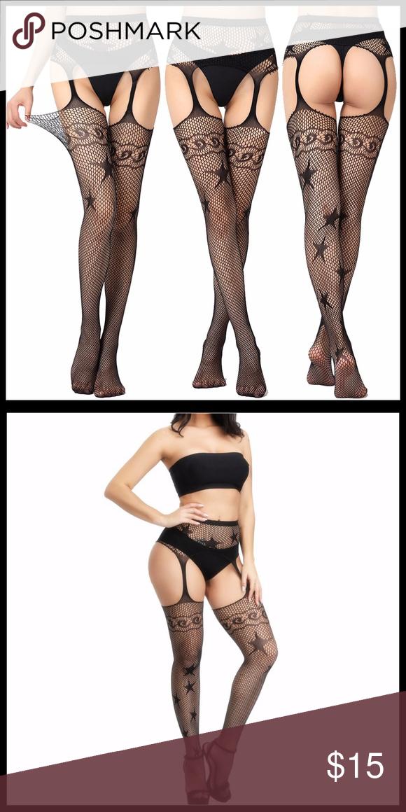 ❤️NEW Sexy Fishnet Garter Belt Stockings #S1187