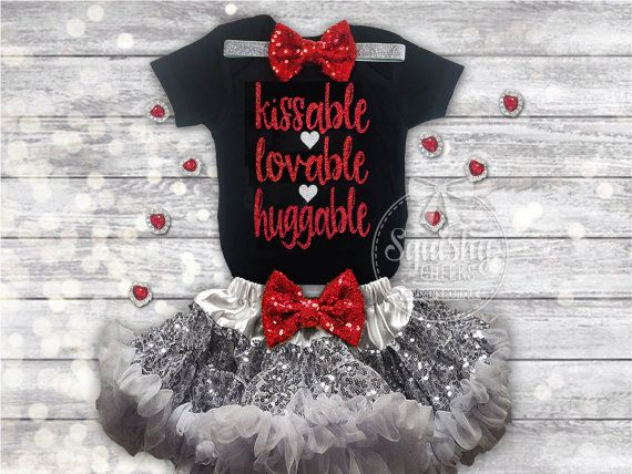 baby valentines day outfit girls valentines day outfit kissable huggable lovable black and red outfit