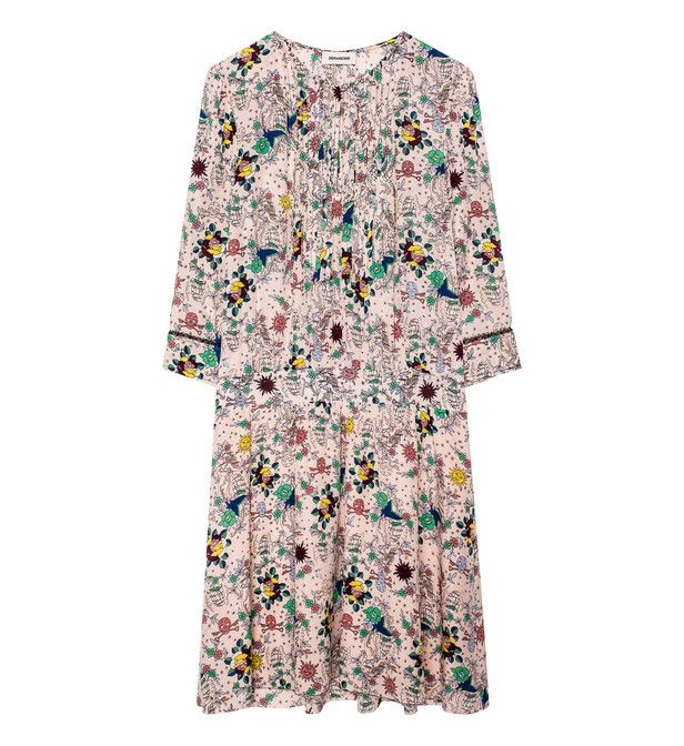 Remus Tattoo printe'd dress by Zadig & Voltaire.