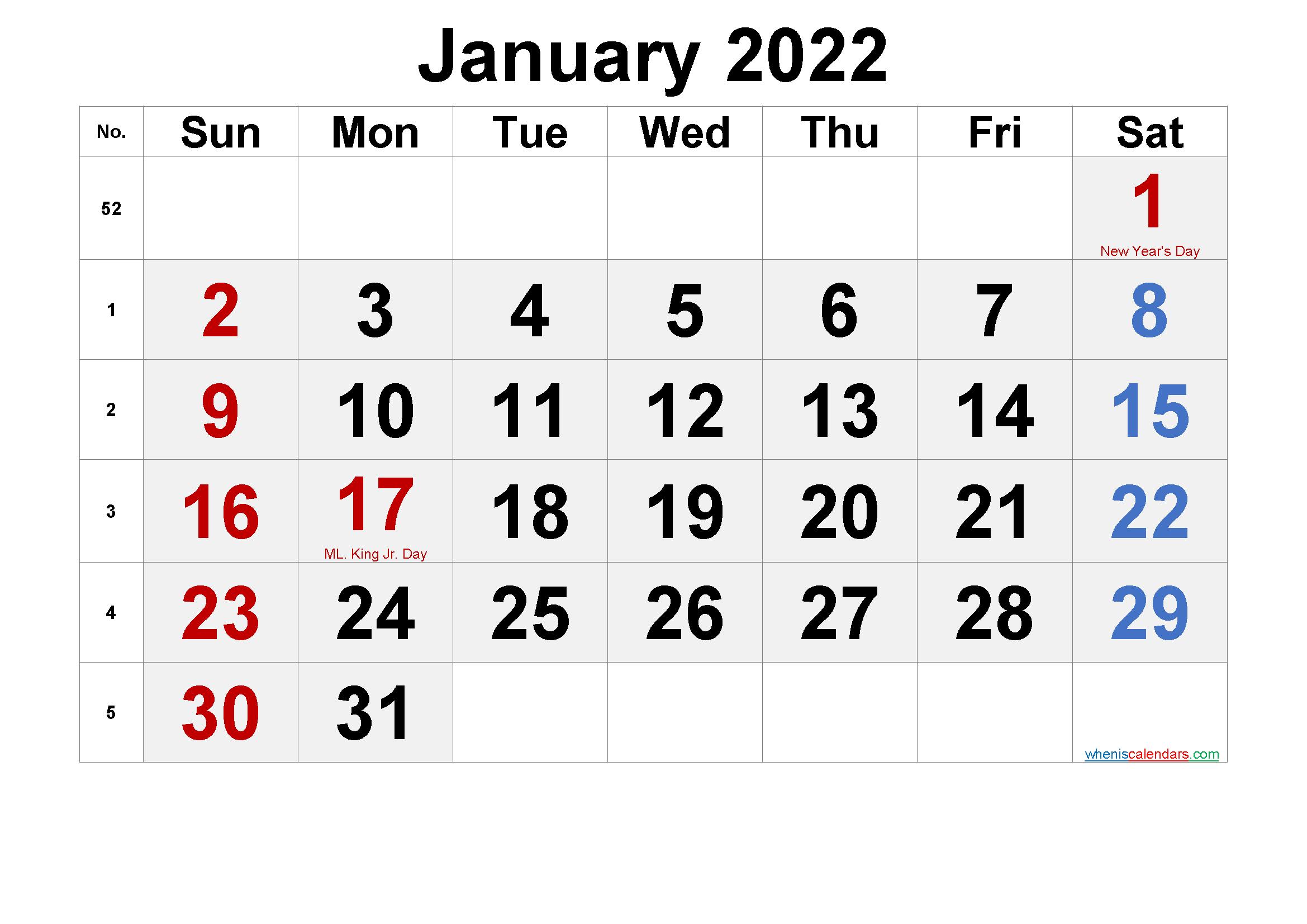 2022 Calendar Png.Free Printable January 2022 Calendar Pdf And Png Calendar Printables Printable Calendar Template Calendar Template