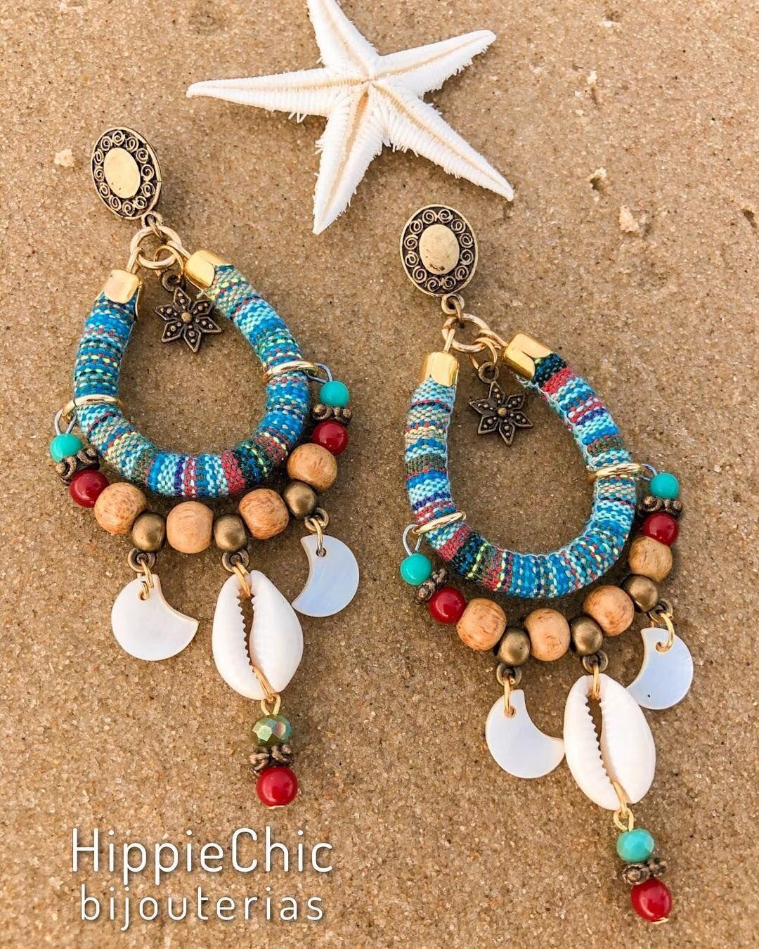Maxi super light ethnic print earring. 😍🌊🐚🌞 #maxibrincos #bijut …