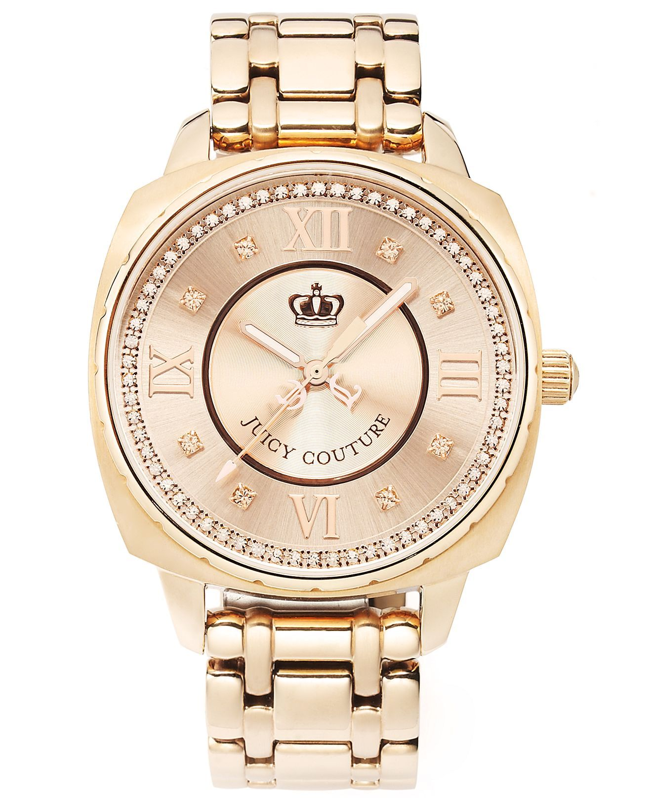 Juicy Couture Watch Womens Beau Rose Gold Plated Stainless Steel