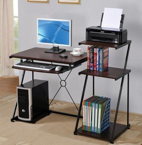 Dark Cherry Computer Desk All Hands On Desk