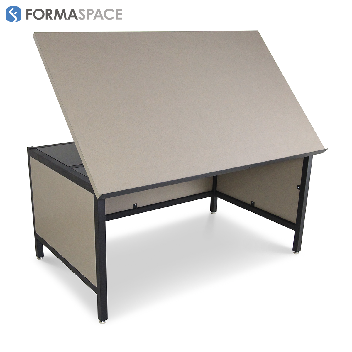 Drafting Table With Modesty Panels | FORMASPACE | These Large Drafting  Tables Are Designed For A