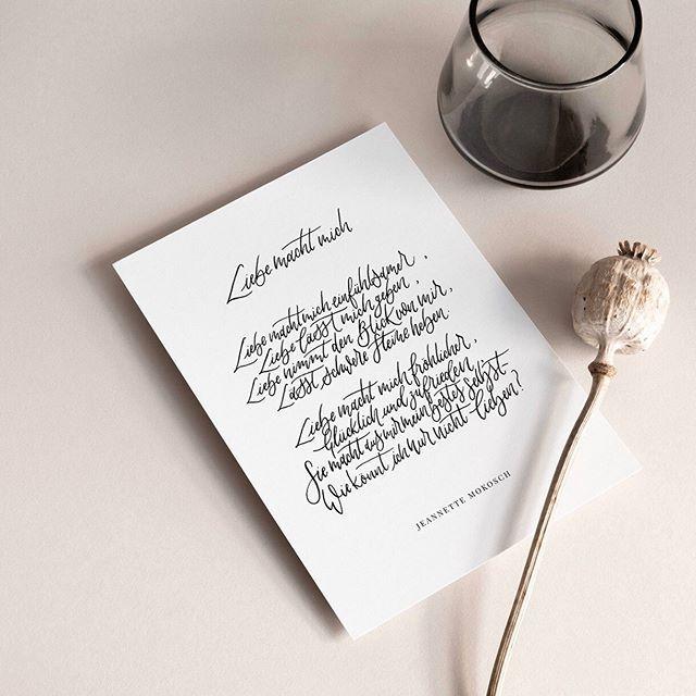 Liebesgedicht Kalligraphie