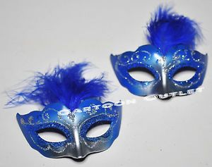 Blue Masquerade Masks for Sweet 16