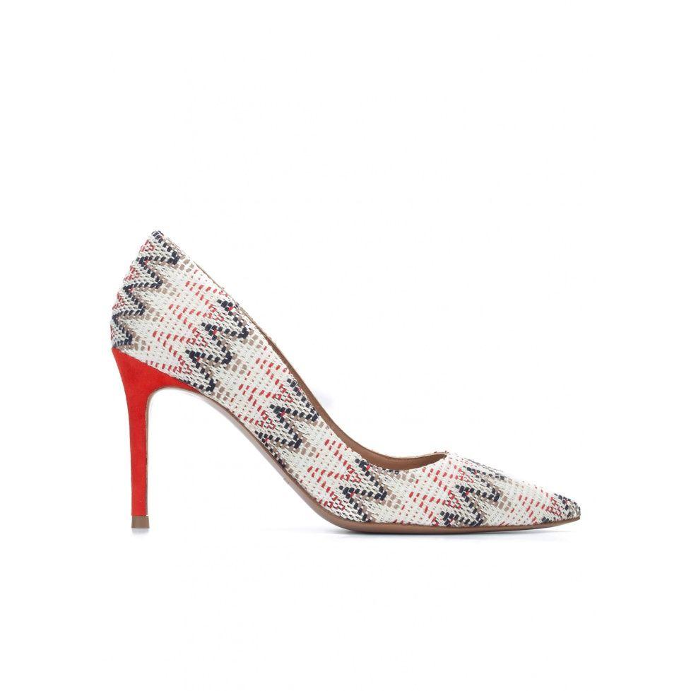 Zapatos de punta fina en tejido multicolor | SPRING SUMMER