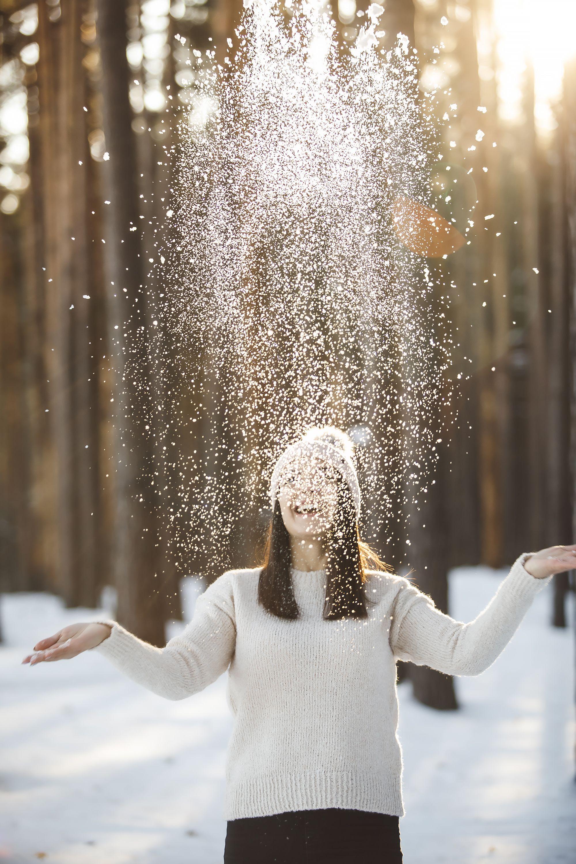 наводит глубокие обыденные идеи для фото зимой всех