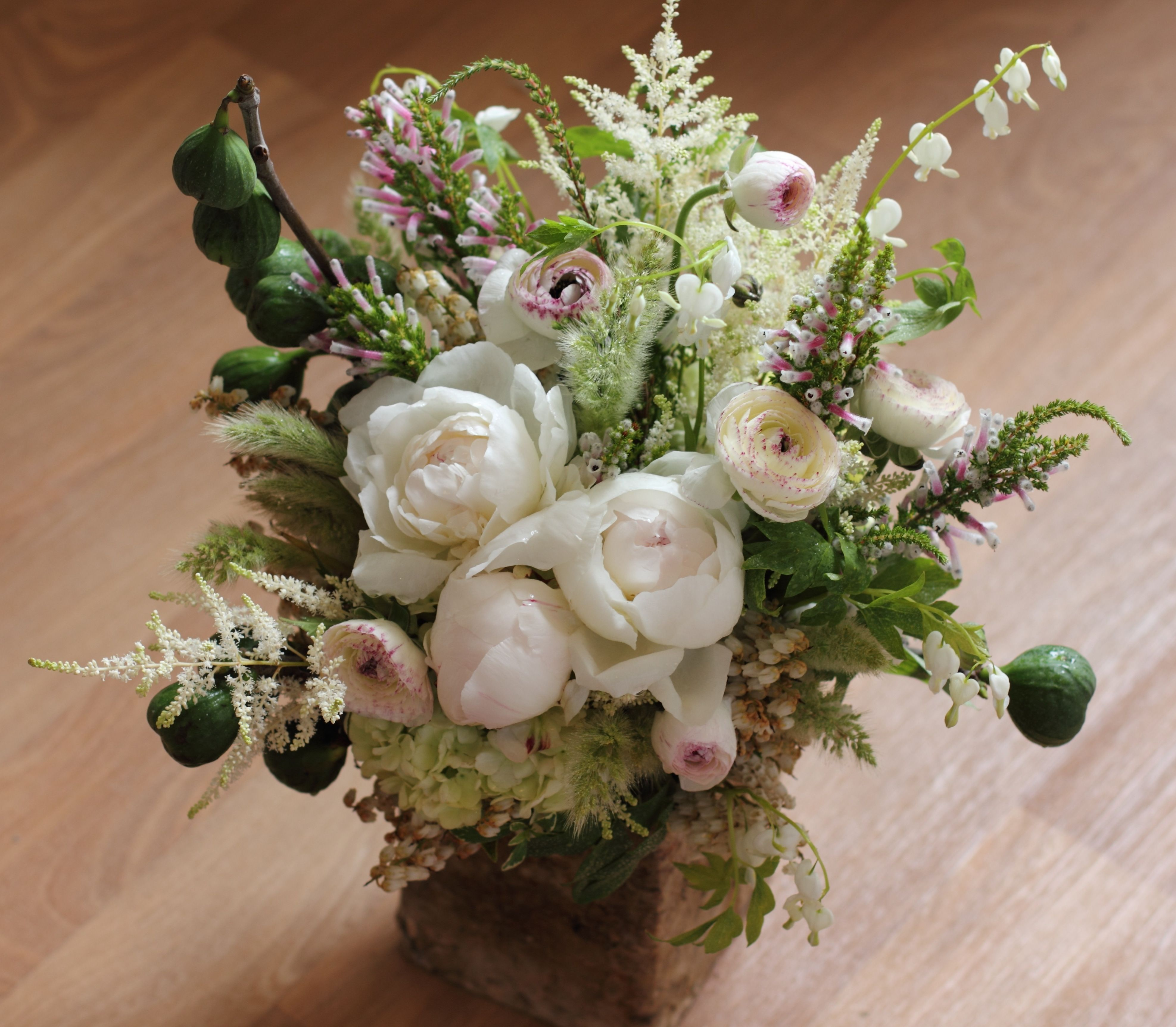 Floral Arrangement by Sachi Rose. Includes fig branches