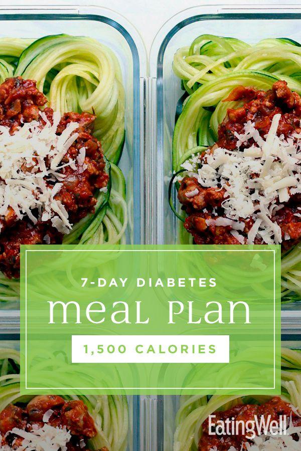 7-tägiger Diabetes-Mahlzeitplan: 1.500 Kalorien   – Healthy Recipes for a Diabetes Diet