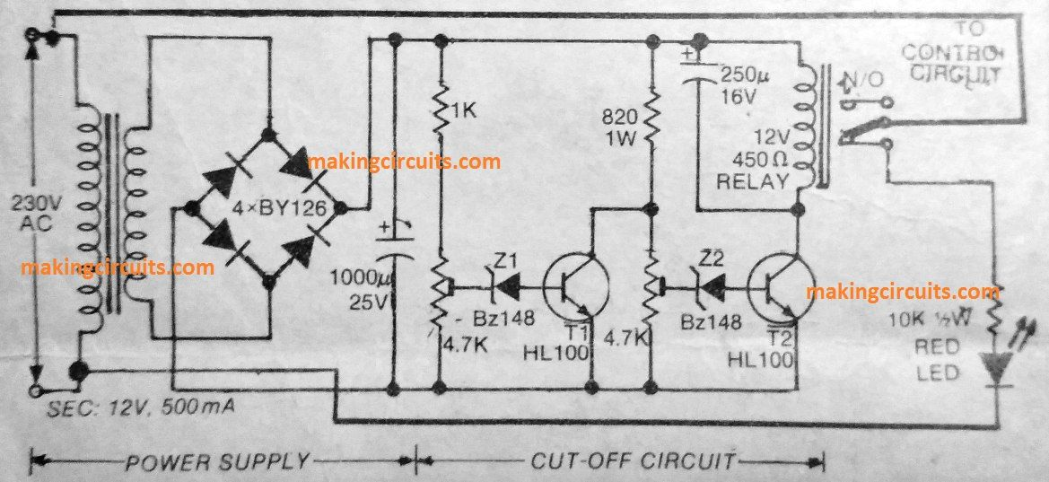 This Very Simple Two Transistor Circuit Will Ensure That Your Home Electrical And Appliances Are Never Affected By Abnormal V In 2020 Circuit Protection Circuit Design
