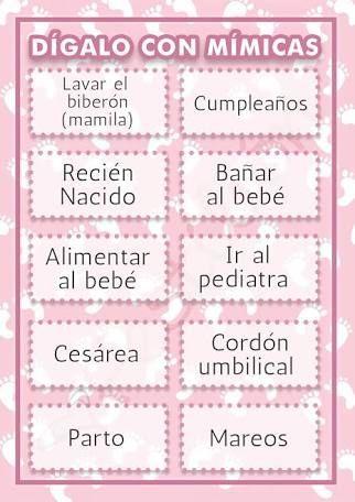 Resultado De Imagen Para Juego Mensaje Al Bebe Baby Shower Juegos