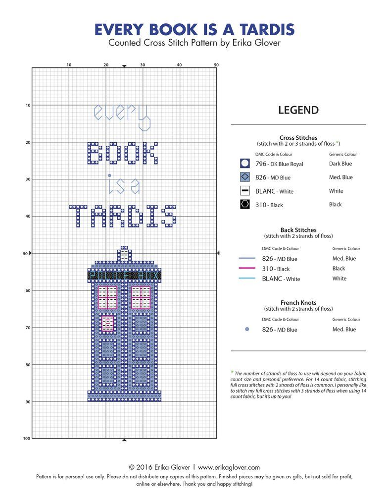 Every Book is a Tardis - Cross Stitch Pattern by erikaglover on DeviantArt