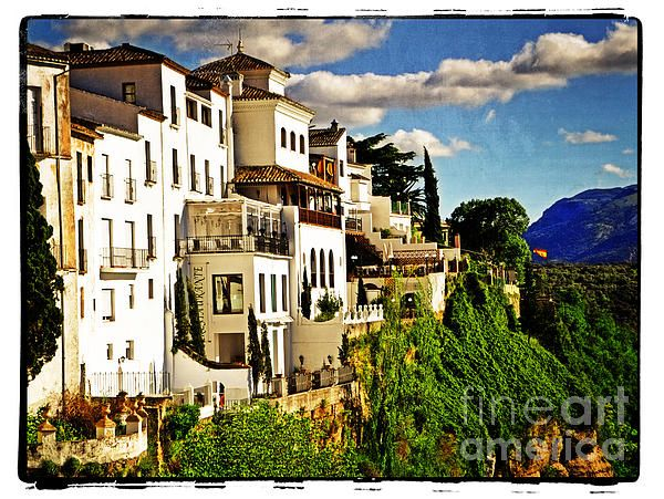 """""""Houses On The Cliff In Ronda Spain"""" - by Mary Machare"""
