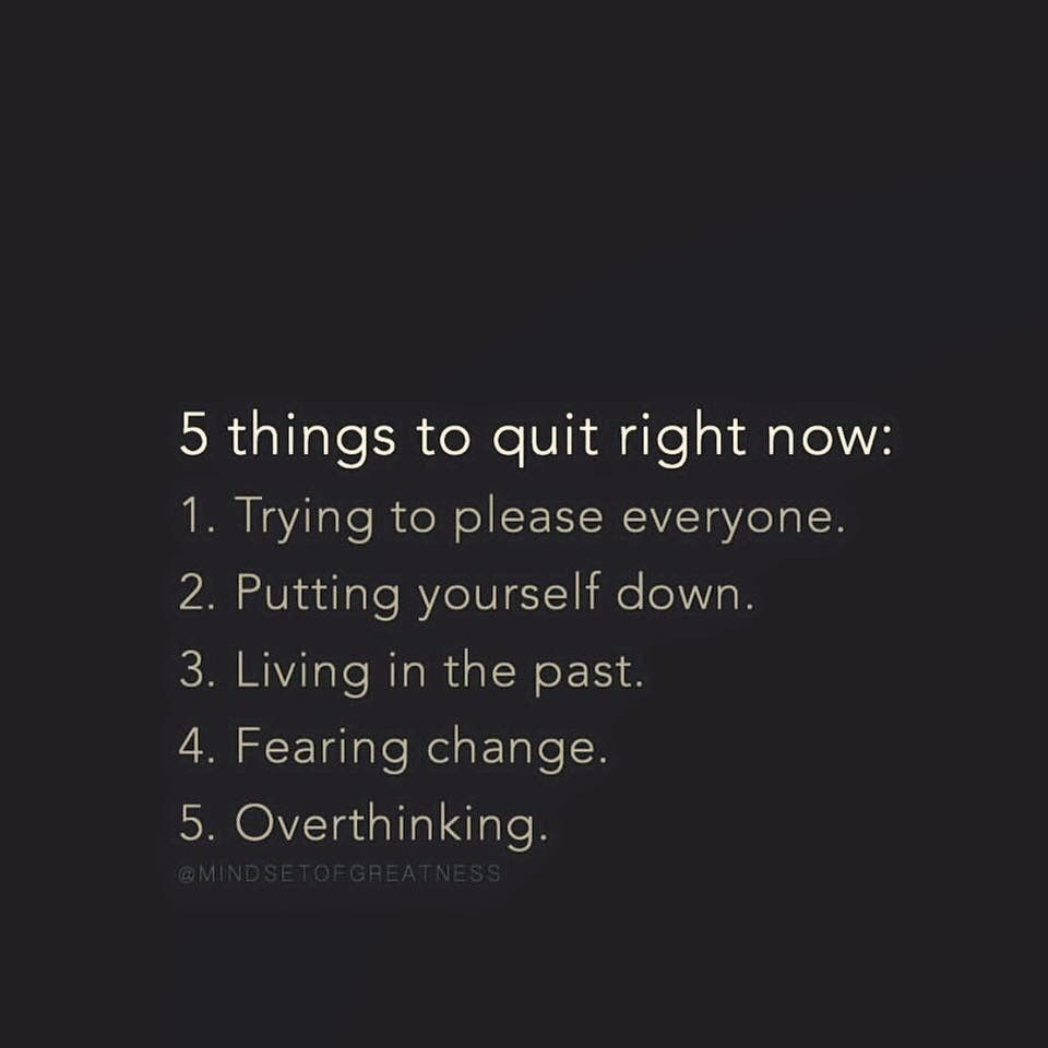 things to quit right now pinteres 5 things to quit right now