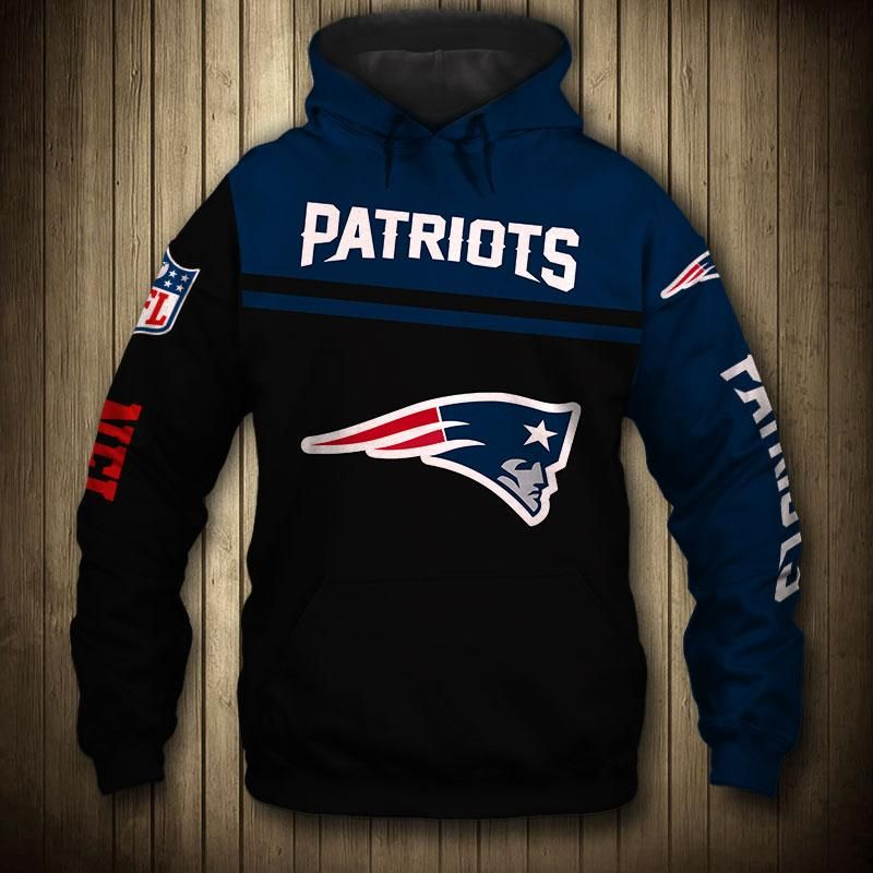 LockQ Mens Sporty Football Patriots Sweatshirt Pullover Hoodie