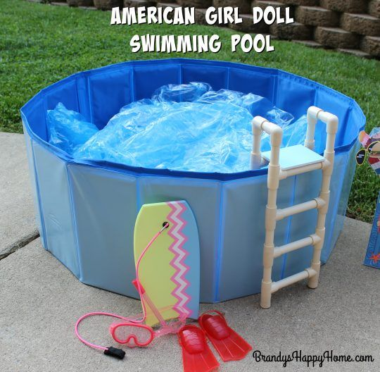 How to Make a Swimming Pool & Ladder for your American Girl Dolls!