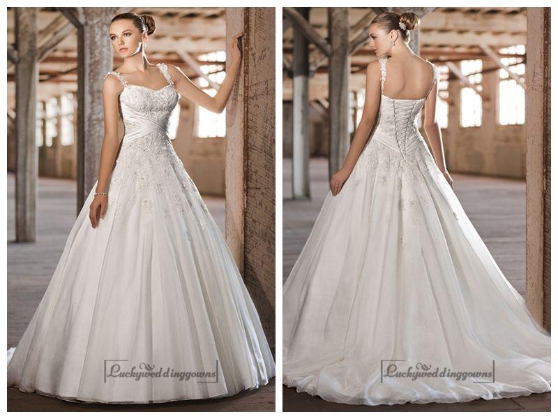 Straps Sweetheart Lace Appliques Criss-cross Bodice A-line Princess Wedding Dresses http://www.ckdress.com/straps-sweetheart-lace-appliques-crisscross-bodice-aline-princess-wedding-dresses-p-1950.html  #wedding #dresses #dress #Luckyweddinggown #Luckywedding #wed #clothing #gown #weddingdresses #dressesonline #dressonline #bridaldresses