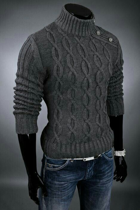 Very stylish pullover. | Hand knitted sweaters, Knitwear men