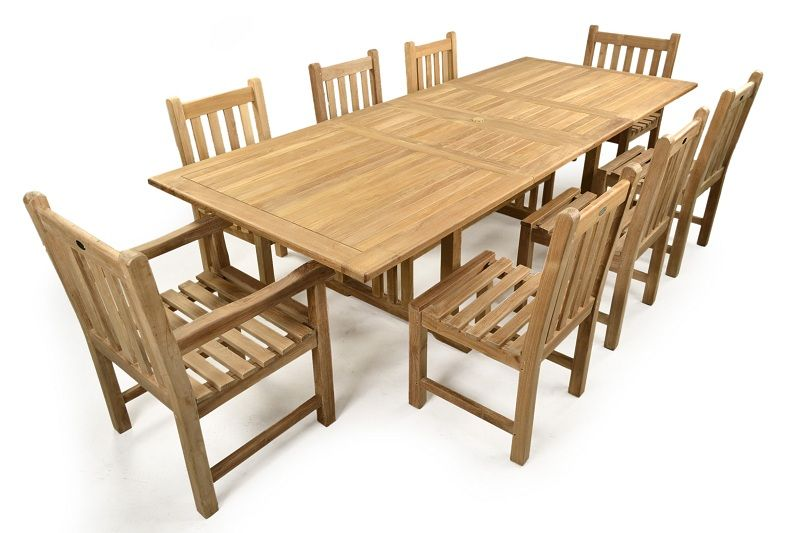 this is a popular 8 seater teak set which comes with an extendable table 6 - Garden Furniture 8 Seater