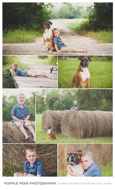Boy session with dog - www.purplepearphotos.com