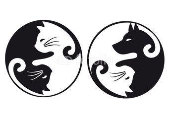 yin yang cat and dog vector set grafiki pinterest yin yang rh pinterest com Yin Yang Graphic Design Funny Yin Yang