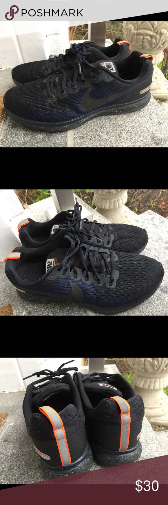 Evento Pertenece Separar  Nike Air Zoom Shield Pegasus 34 Obsidian Shoes 12 | Nike air zoom, Black  nikes, Shoes