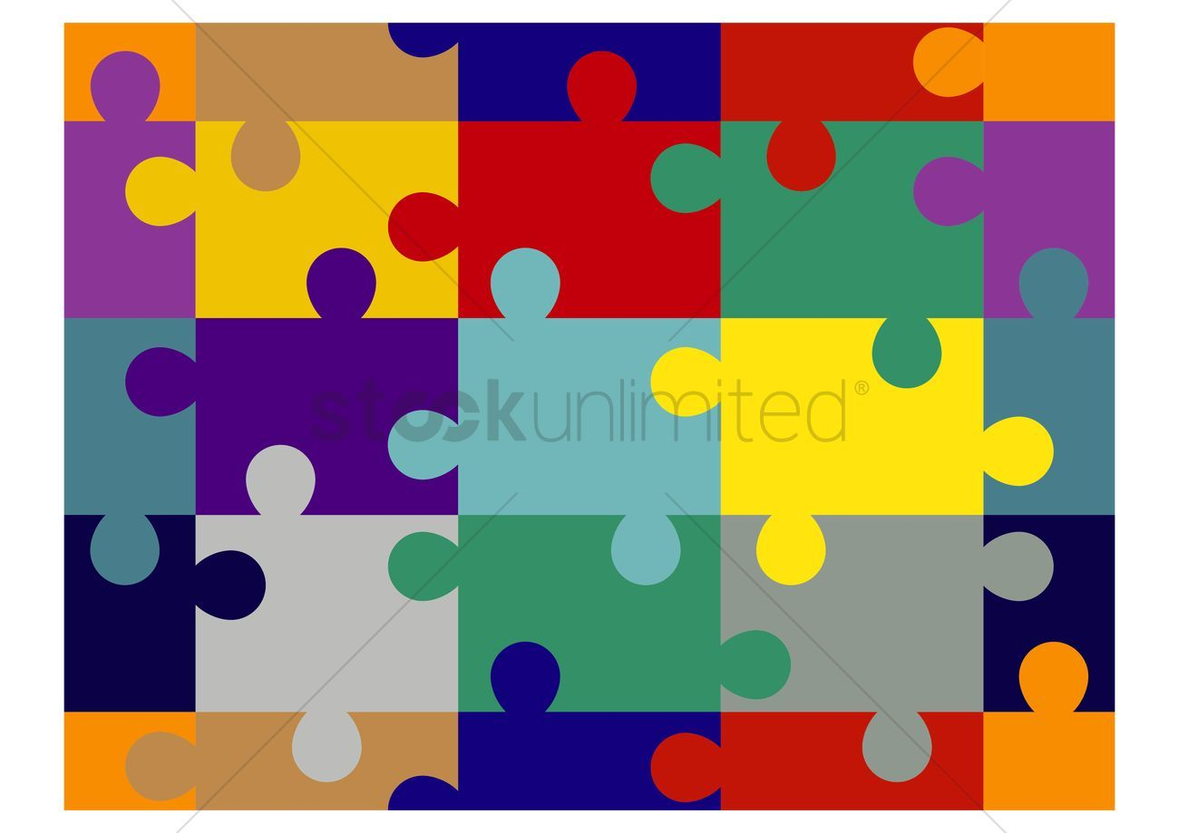 Jigsaw puzzle background vector illustration
