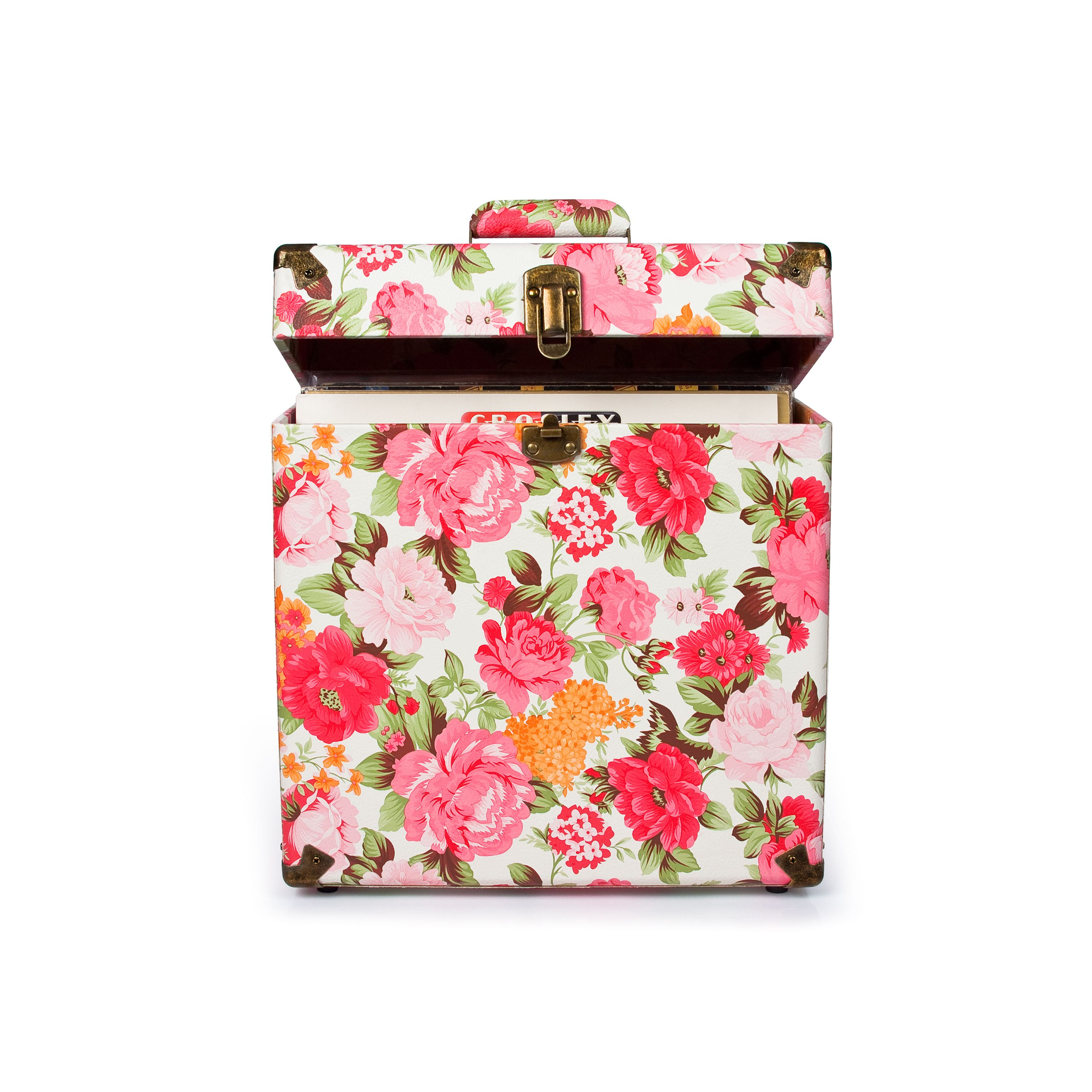 Crosley | Record Carrying Case - Floral #crosley #accessories #carryingcase #vinyl #floralprint