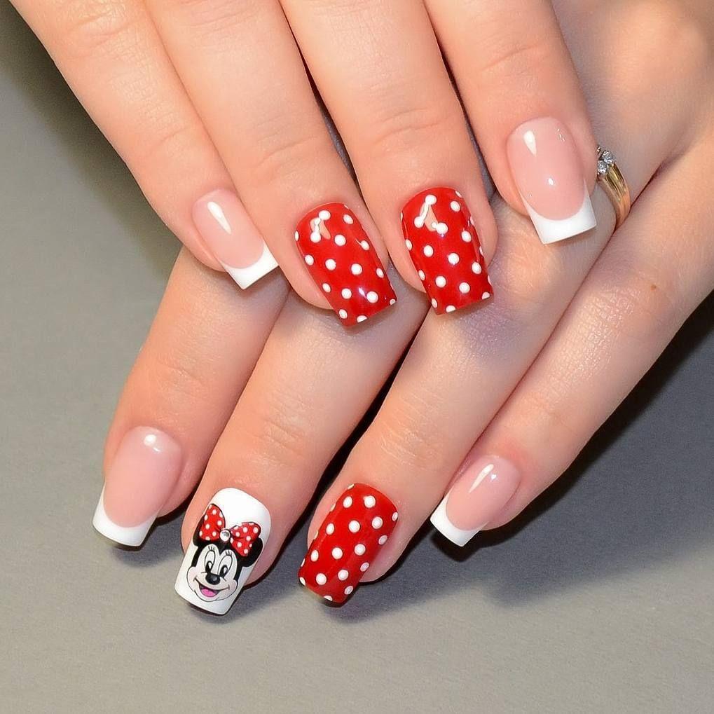 Роспись гелем 💅🐭🎀 #Наращивание#ногтей#наращиваниеногтей# ...
