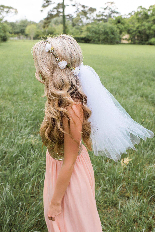 Flower crown veil boho bachelorette veil bachelorette