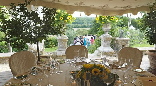 What could be more lovely than a destination wedding at the most romantic hotel in Tuscany?