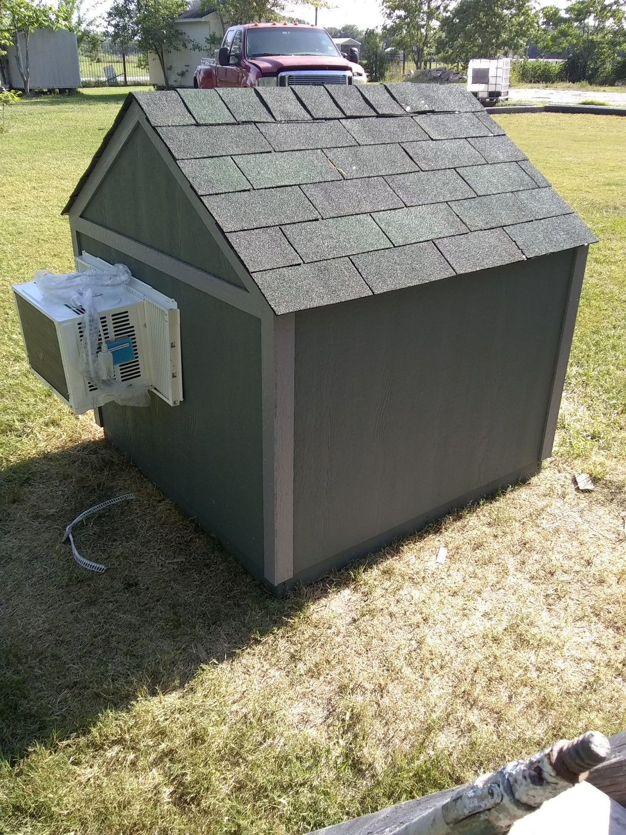 Custom Dog Houses With Window Ac Unit Call Text To Place Your