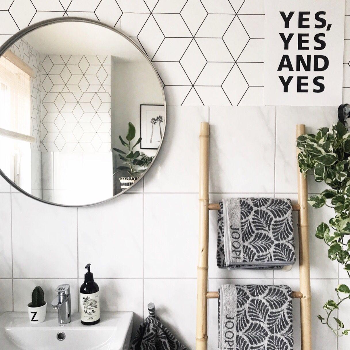 3 X Badezimmer Deko Ideen Zur Inspiration Round Mirror Bathroom