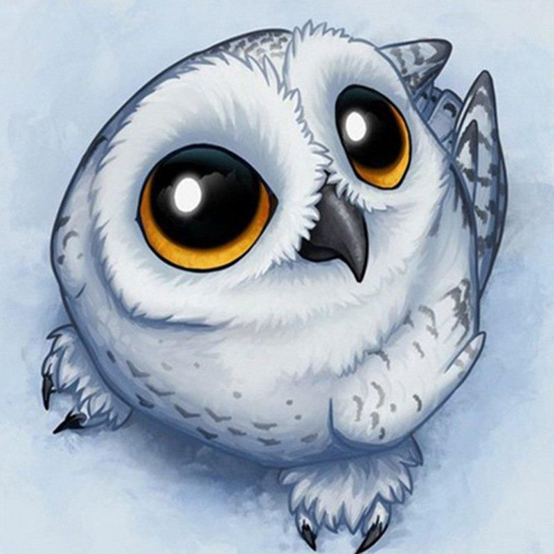 Diamond Painting - Little Cute Owl – Floating Styles