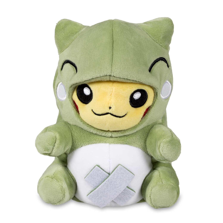Official Pokémon-Amie Substitute Pikachu Plush. Pikachu dressed up in  removable Substitute costume. A Pokémon Center Original design. fd466777d4a