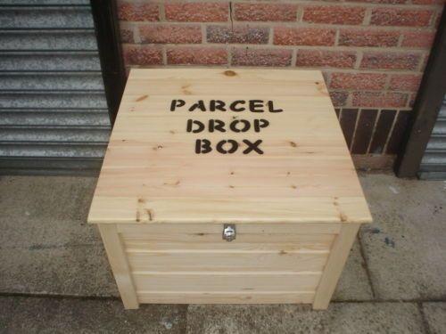 Parcel Safe Drop Box Lockable Solid Wood Various Sizes Ebay