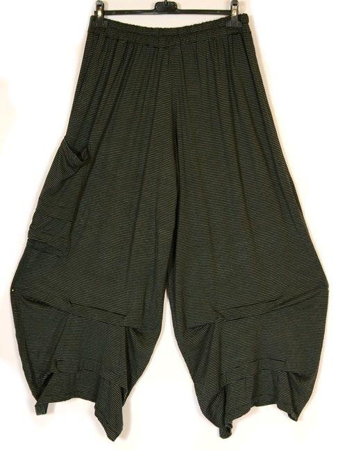 idaretobe.com Prisa Funky Transitonal Striped Soft Jersey Trouser-Prisa, lagenlook,