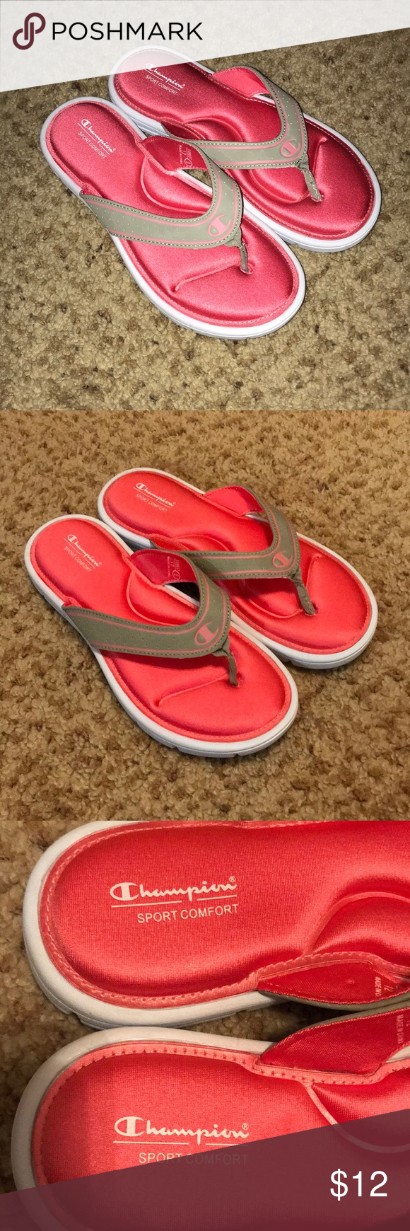 a6b30e468 Champion foam slides Champion women s size 9 foam slides