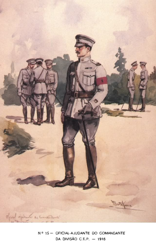 Portuguese Officer - France 1916 WW 1