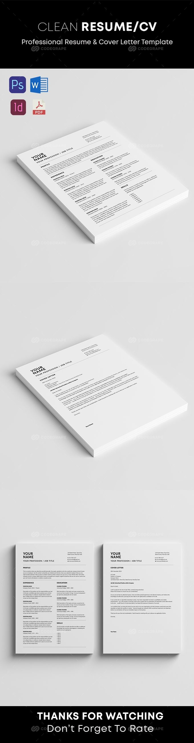 Resume Resume cover letter template, Resume, Cover