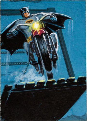 Original Comic Art:Illustrations, Bob Powell and Norman Saunders Batman Series 2 (Red Bat) #10Trading Card Illustration Painting Original Art (Topp...