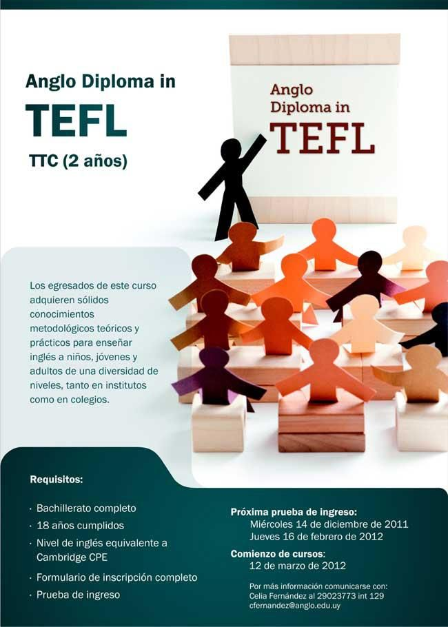 Anglo Diploma in TEFL.