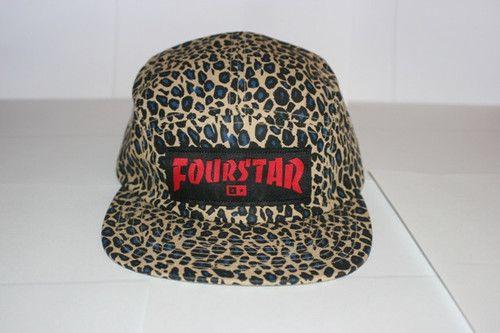 ... Fourstar Leopard Print 5 Panel Hat 100 Cotton HUF Stussy Active eBay  large discount 5738b 224bb ... 4e561f34047