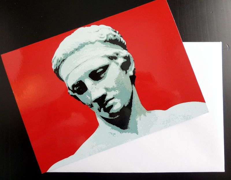Greetings card diadoumenos ancient greek athlete ancient greek greetings card a high quality card depicting diadoumenos statue of ancient greek athlete m4hsunfo