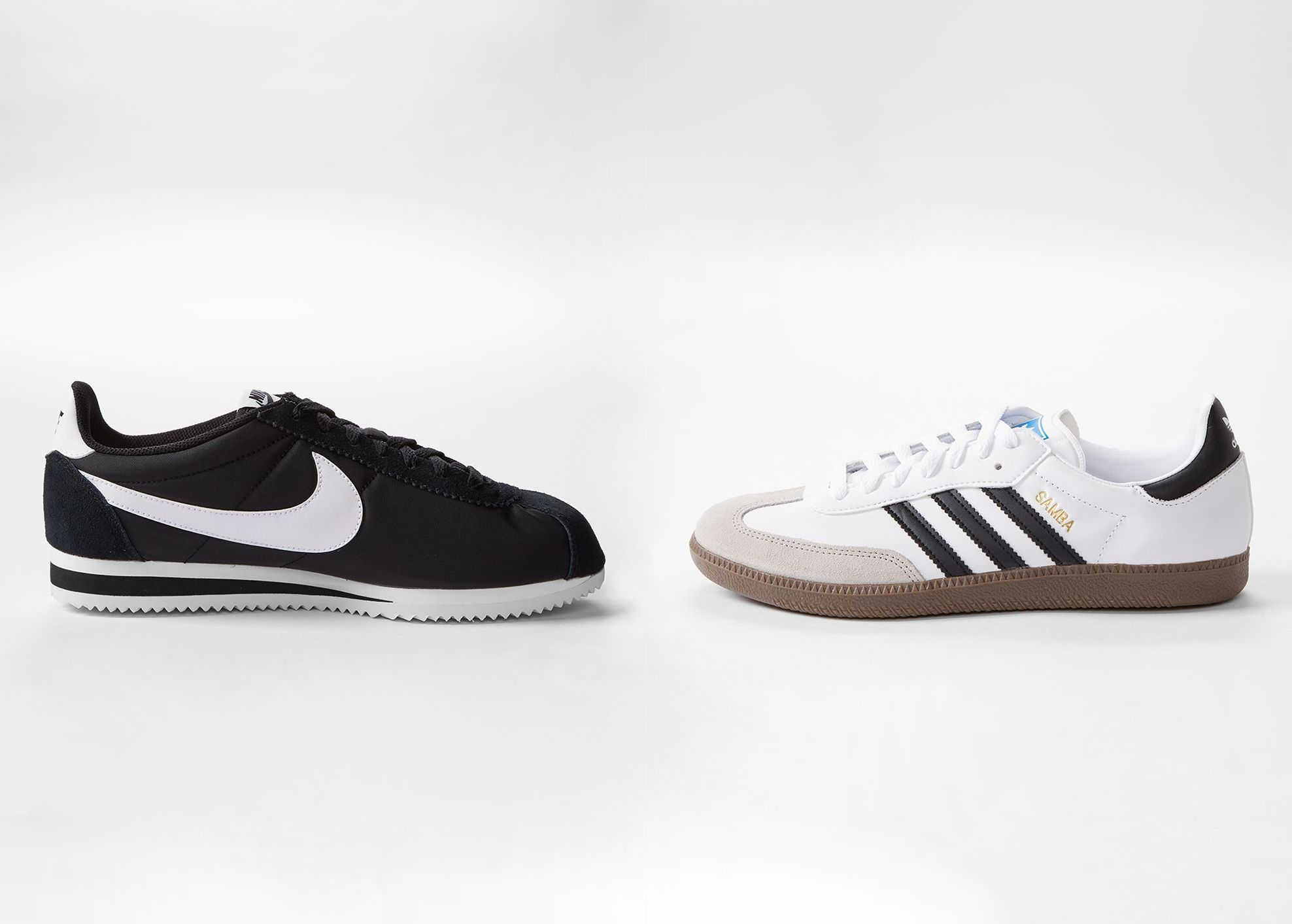 Der ultimative Sneaker-Battle: ADIDAS Samba vs. NIKE Cortez