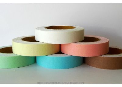 Solid Color Fabric Tape #fabrictape This Solid Color Fabric Tape - Decorative Tape may work for my husband's side of the closet. This is also from cutetape.com. #fabrictape