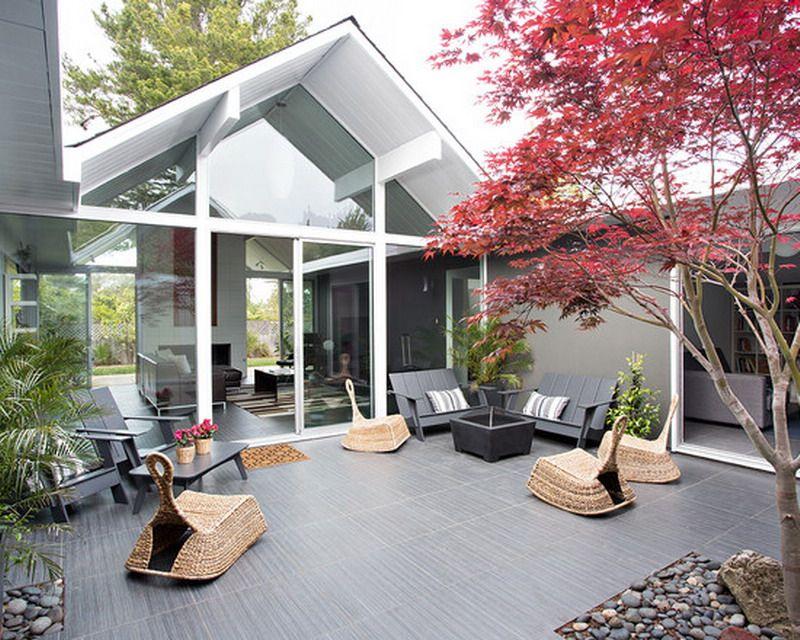 Attractive Zen Patio Furniture Decorating Ideas Modern Patio