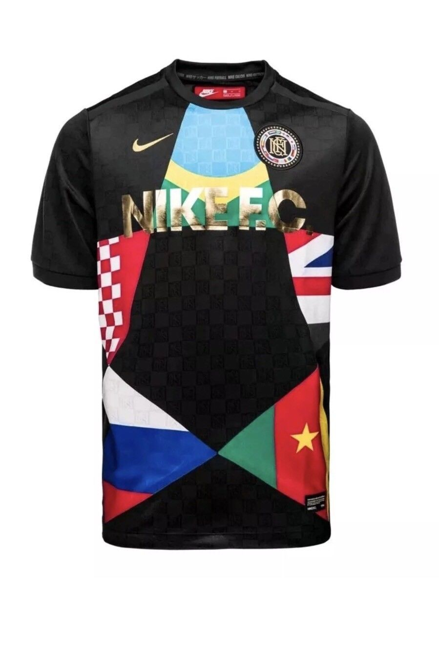 NIKE F.C. Football WORLD CUP 2018 SOCCER JERSEY BLACK MENS SZ 2XL XXL 886872-014  Discount Price 74.39 Free Shipping Buy it Now 16122a149