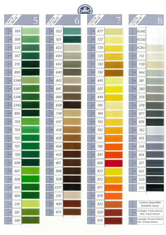 dmc thread color chart: Dmc color chart pinterest colour chart chart and